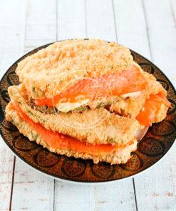 Zucchini con panko, mozzarella y salmón ahumado-0