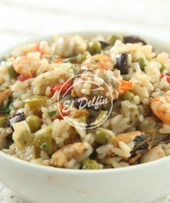 Salteado de mariscos con arroz yamani-0